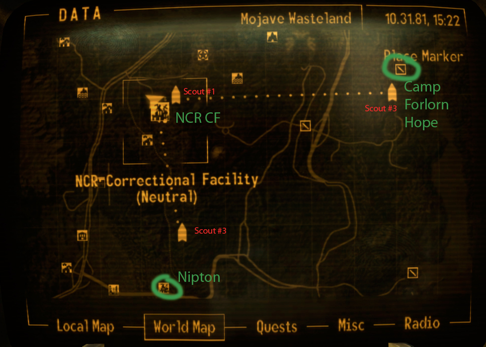 Fallout New Vegas: Brotherhood Scout Locations | Studio Freya