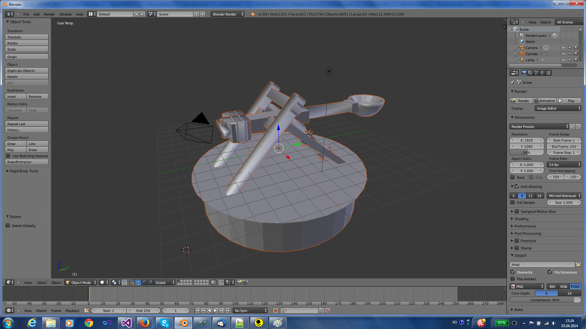 Import or make an object in Blender