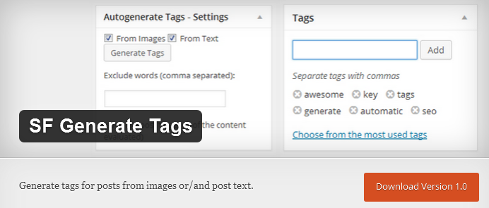 banner generate tags with text