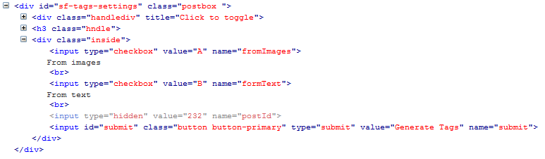 form tag disappeared in wordpress plugin