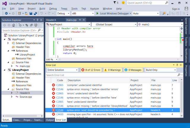 visual-studio-2015-c++-useless-error-list