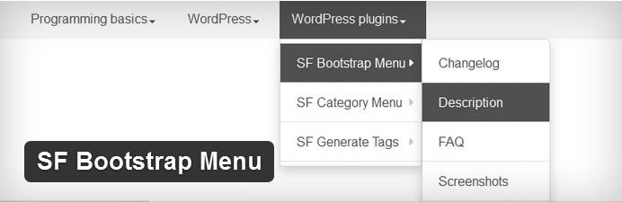 sf bootstrap menu banner
