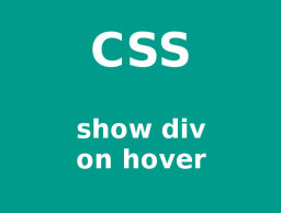 css show div on link hover in list