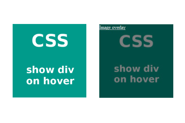 css show div on link hover in list example