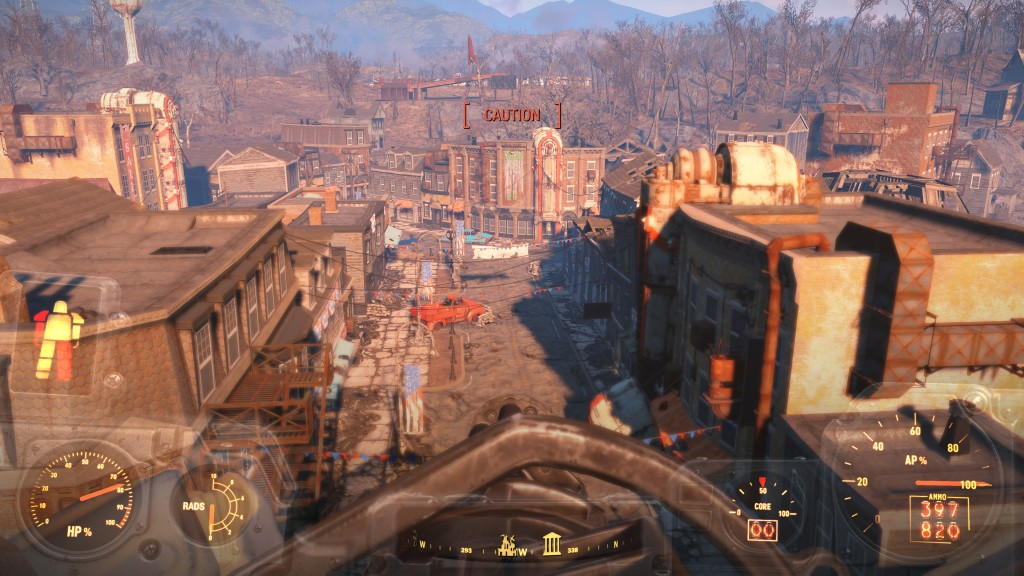Power armor, Minigun Top of roof