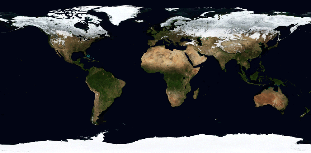 earth seasons time lapse from space