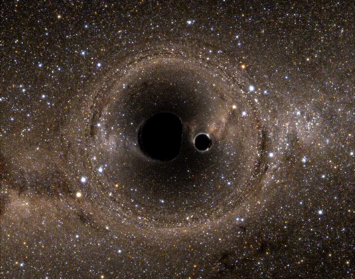 two merging blackholes simulation