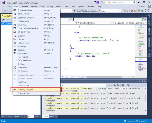 visual-studio-property-manager