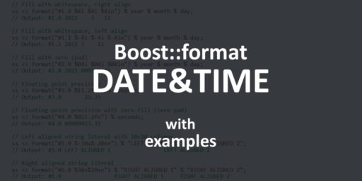 boost format A few boost::format examples | Studio Freya