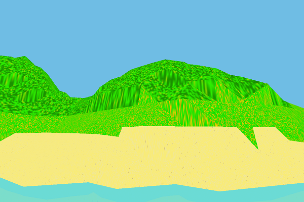 Stretched terrain texture