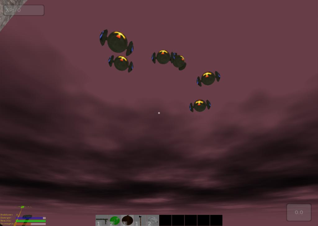 Rotor robots hang in the air