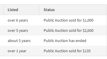 previous listings example website sell flippa