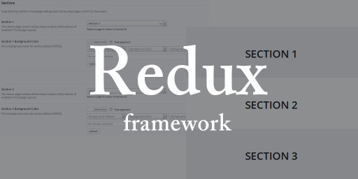 redux framework sections loop code development example