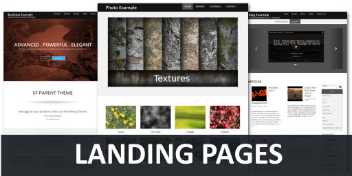 landing pages best practices blog post sfparent wordpress theme snapshot thumbnail