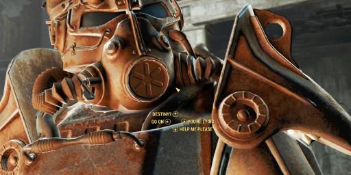 Closeup of power armor
