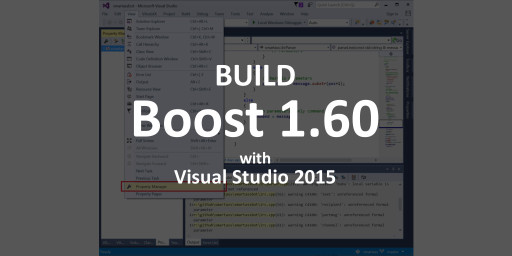 how to build boost 1 60 with visual studio 2015