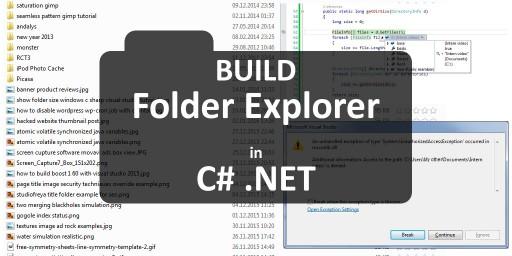 build folder explorer in csharp visual studio code tutorial