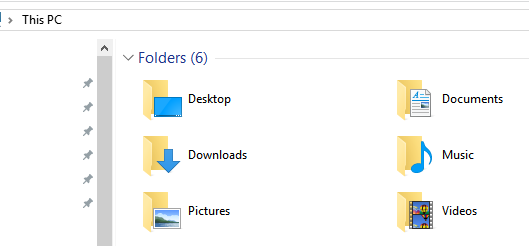 computer folders overview windows