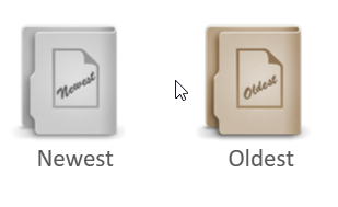 newest oldest files folders in duplicate files checker tool