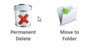 permanent delete or move to other folder duplicate files