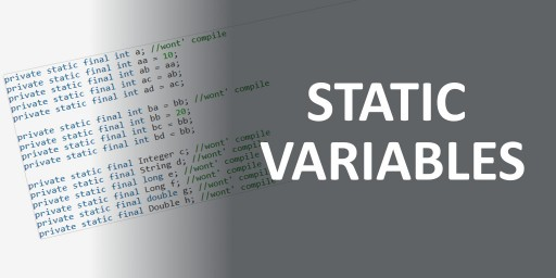 java static final variables default value explanation examples