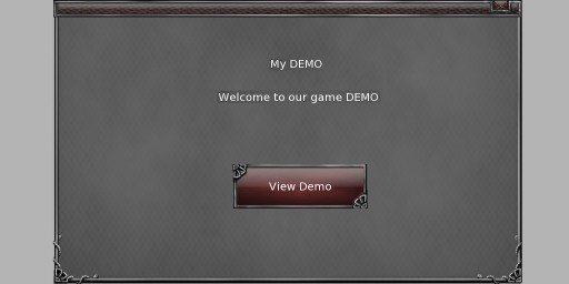 my demo example cegui framewindow text button