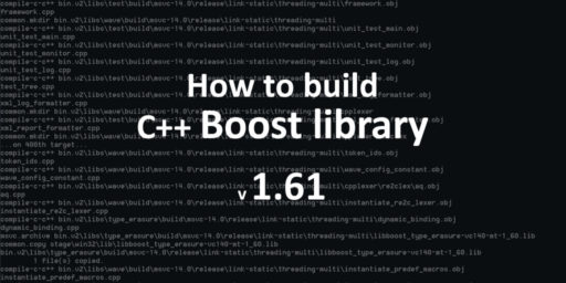 how to build boost 1.61 on windows