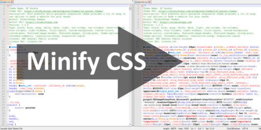 minify css notepad tutorial script