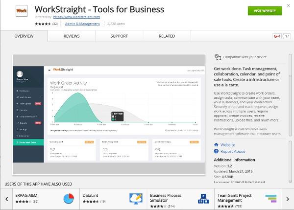 chrome workstraight app