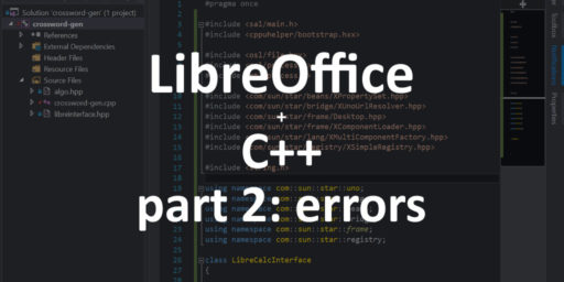libreoffice-cpp-errors-connecting