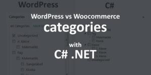 WordPress vs WooCommerce categories with Rest API in C#