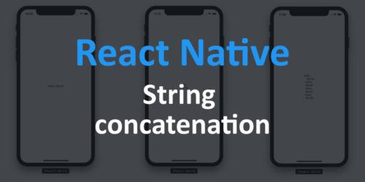 string concatenation in react native studio freya
