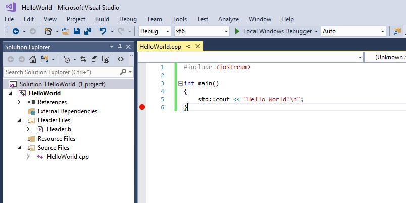 Visual studio c++ project